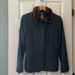 Size 4 Lauren Ralph Lauren Blazer w/Faux Fur